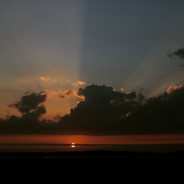 """""""sunset flare"""" stock image"""