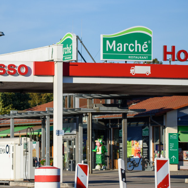 """""""ESSO petrol station. Esso is a trading name for ExxonMobil and its related companies."""" stock image"""