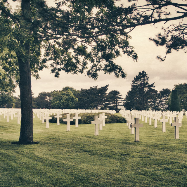 """Normandy American Cemetery Vintage"" stock image"