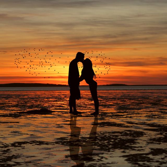 """Sunset love"" stock image"