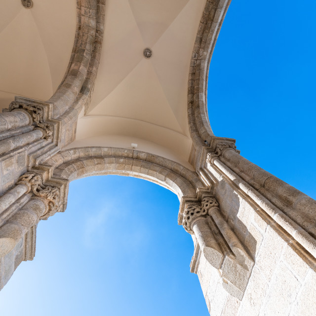 """Archs details on Church of St. Francis"" stock image"
