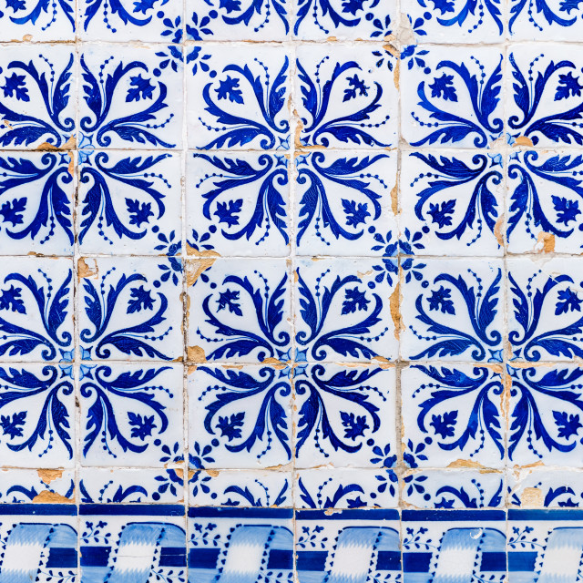 """Traditional Portuguese tiles"" stock image"