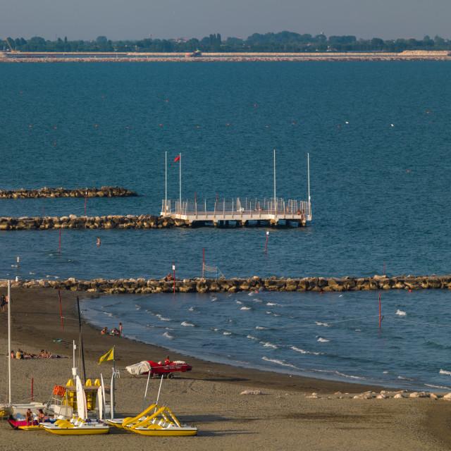 """""""Lido di Venezia beach, Veneto Region, Venice, Italy"""" stock image"""