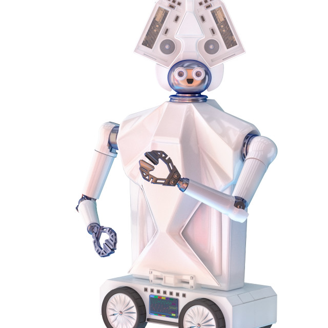"""""""Babysitting robot for babies and kids"""" stock image"""
