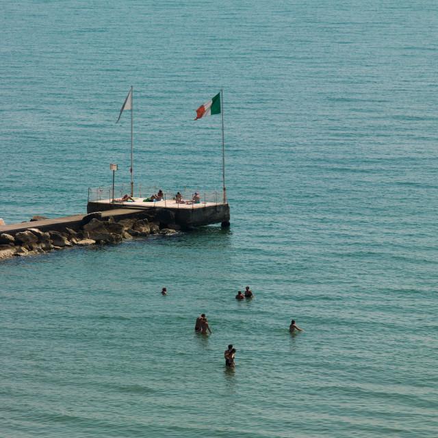 """""""Lido di Venezia jetty, Veneto Region, Venice, Italy"""" stock image"""