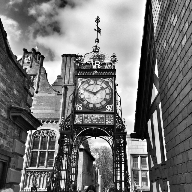 """""""The Eastgate Clock, Chester."""" stock image"""