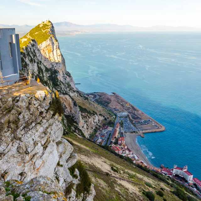 """Amazing view from the top of the rock of Gibraltar on the Mediterranean sea..."" stock image"