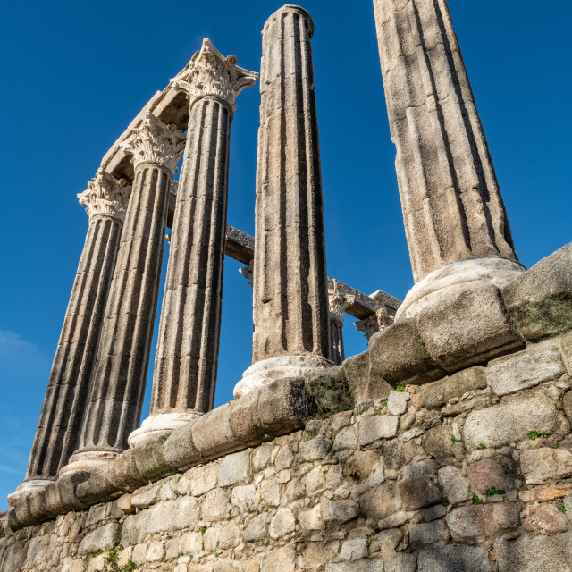 """Roman temple of Evora"" stock image"