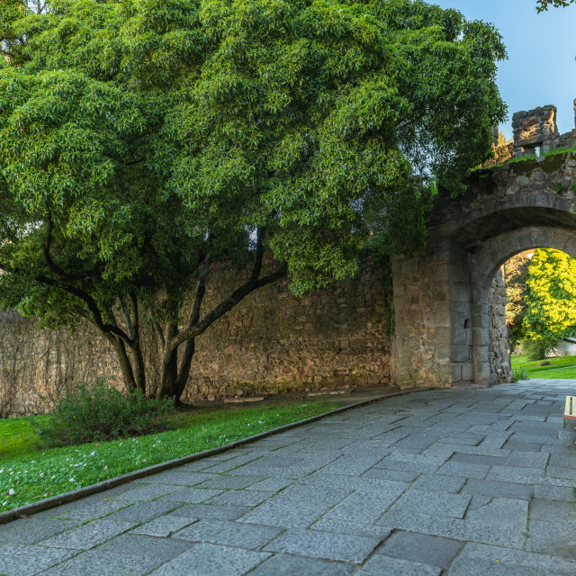 """Colegiais' Garden in Evora"" stock image"