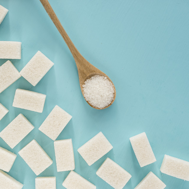 """""""background of white sugar with copy space"""" stock image"""