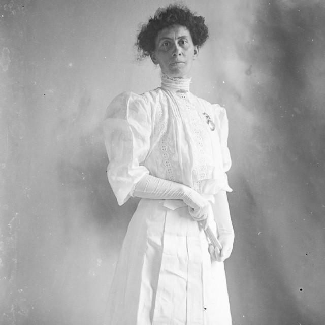 """VINTAGE PORTRAIT OF ELEGANT WOMAN"" stock image"
