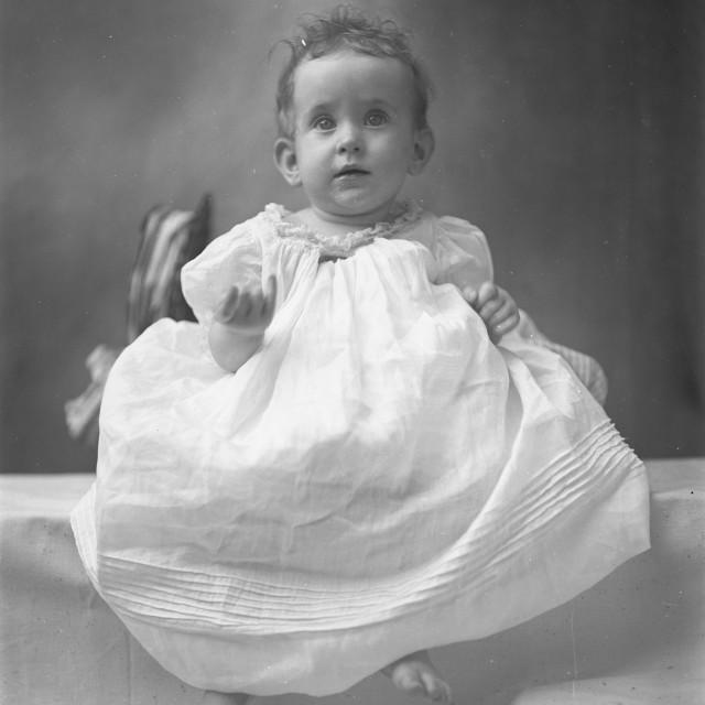"""VINTAGE BABY PORTRAIT"" stock image"