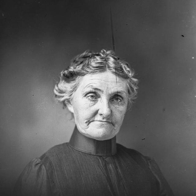 """VINTAGE STUDIO PORTRAIT OF OLDER WOMAN"" stock image"