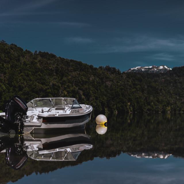 """""""Lago Espejo"""" stock image"""