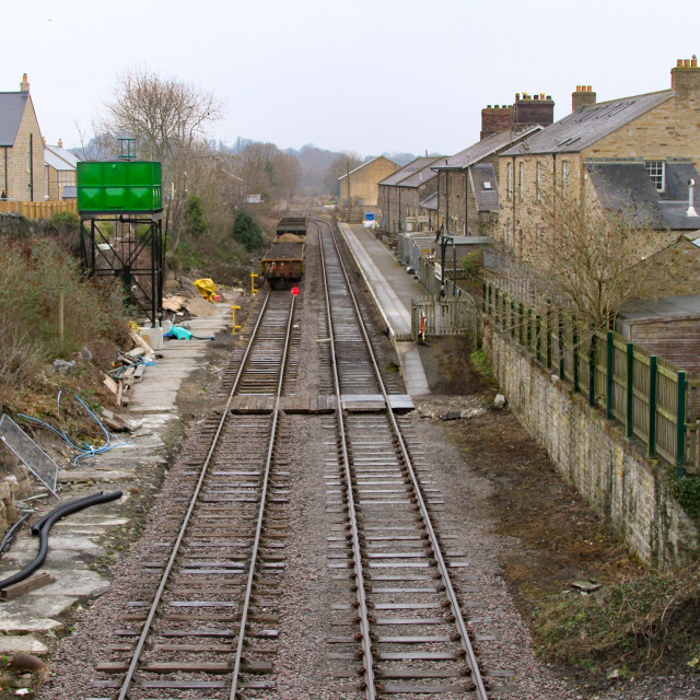 """Leyburn Railway Station"" stock image"
