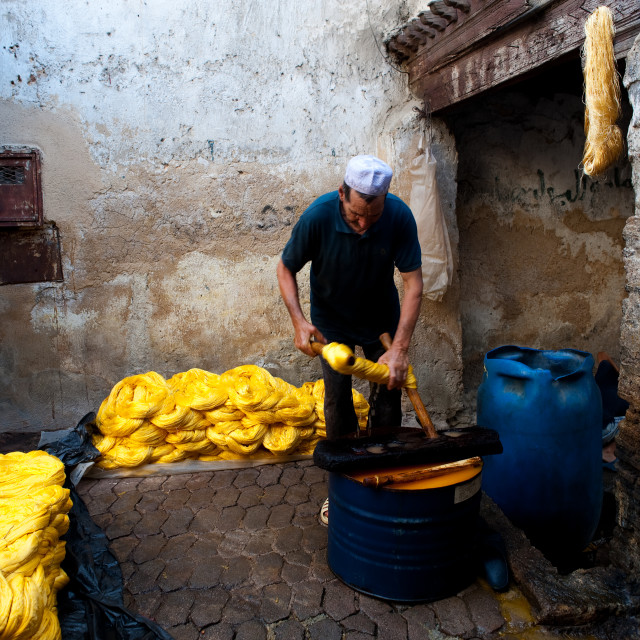 """""""Tannery ( Morocco)"""" stock image"""