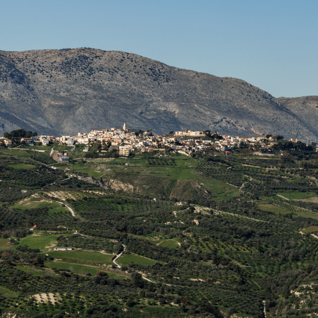 """St Myronas Village"" stock image"