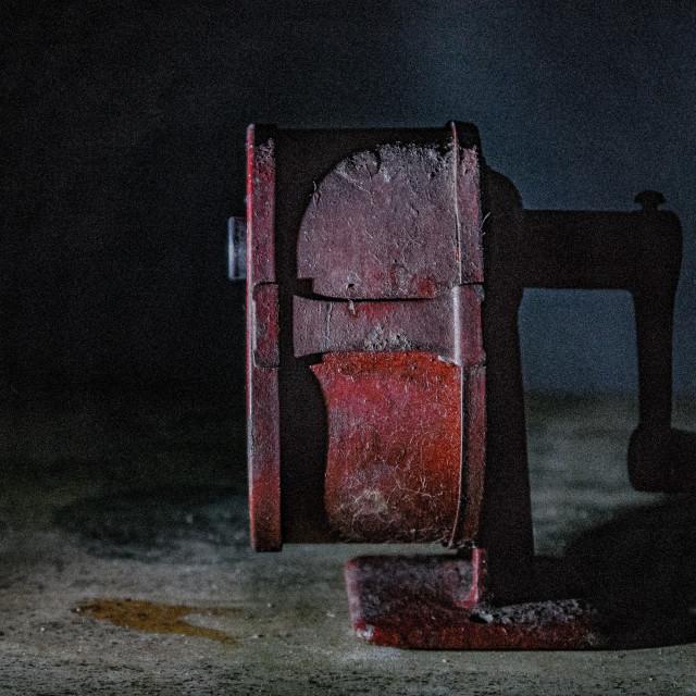 """""""STILL LIFE VINTAGE PENCIL SHARPENER"""" stock image"""