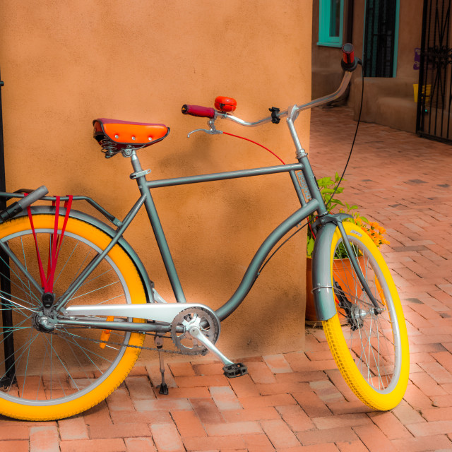 """""""COLORFUL BICYCLE"""" stock image"""