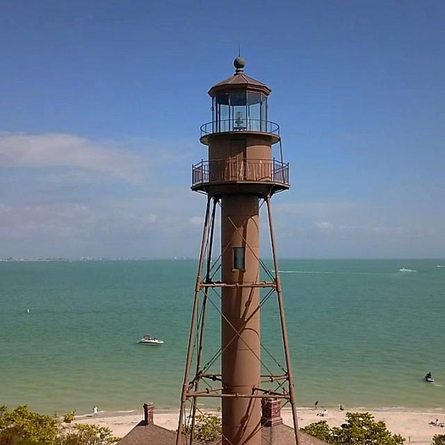 """Light house on sanibel island"" stock image"