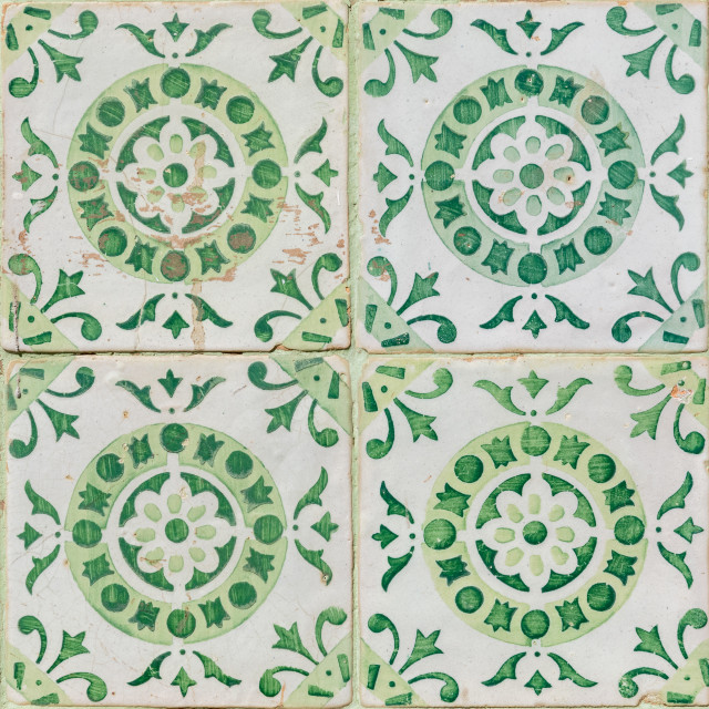 """Traditional Portuguese glazed tiles"" stock image"