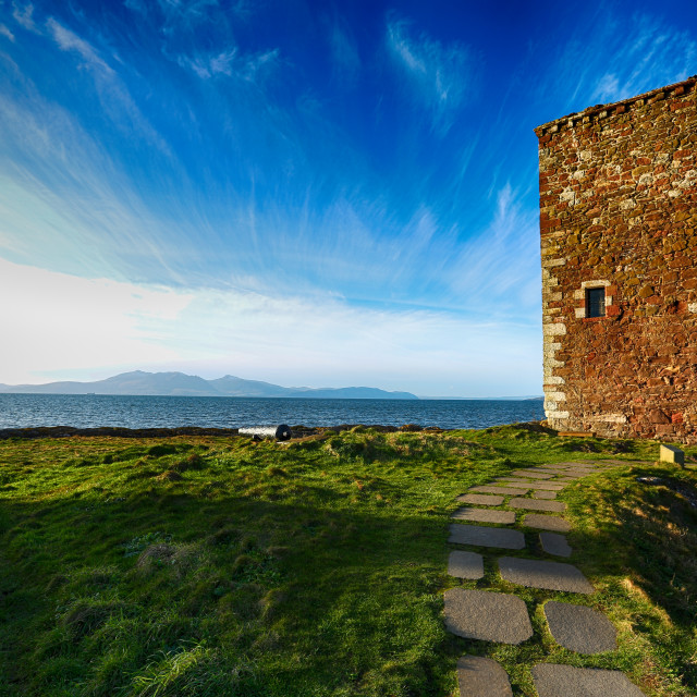 """Portencross Castle"" stock image"