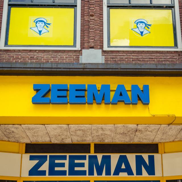 """Zeeman logo above the entrance"" stock image"