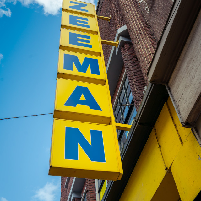 """Zeeman lightbox logo on storefront"" stock image"