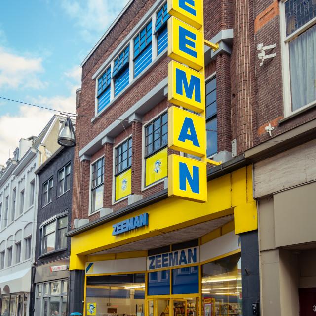"""""""Zeeman shop on the Voorstraat in Dordrecht"""" stock image"""