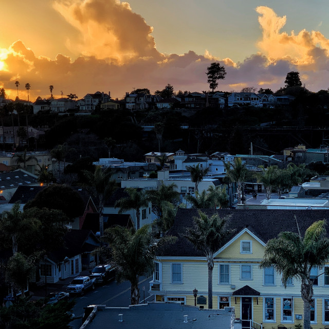 """Capitola Village"" stock image"