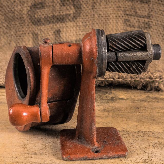 """""""STILL LIFE - VINTAGE PENCIL SHARPENER"""" stock image"""