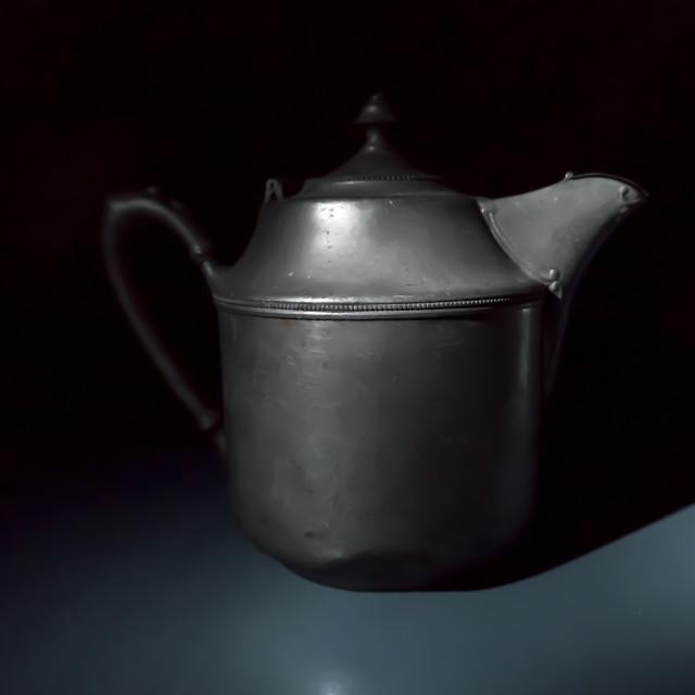 """VINTAGE TEA POT STILL LIFE"" stock image"