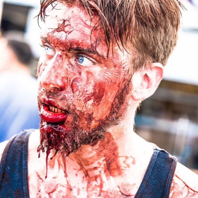"""ZOMBIE AT THE ASBURY PARK NJ ZOMBIE WALK"" stock image"