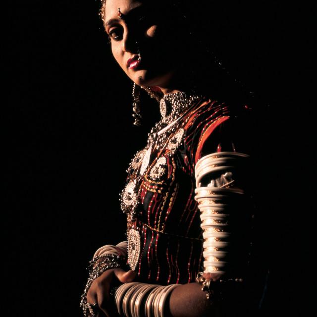 """Rajasthani woman ( India)"" stock image"