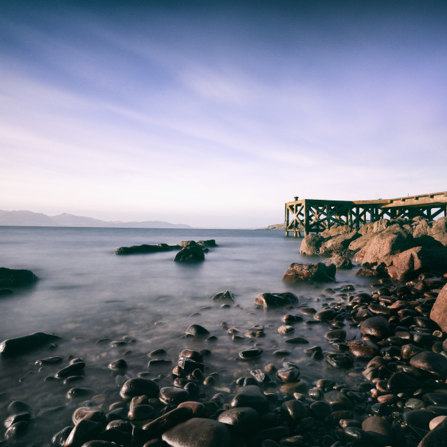 """Portencross Pier Ayrshire Scotland"" stock image"