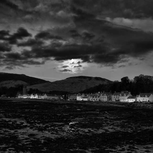 """Lamlash In The Moonlight"" stock image"