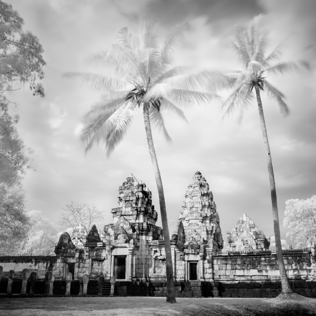 """Prasat Sadok Kok Thom - Thailand - khmer temple"" stock image"
