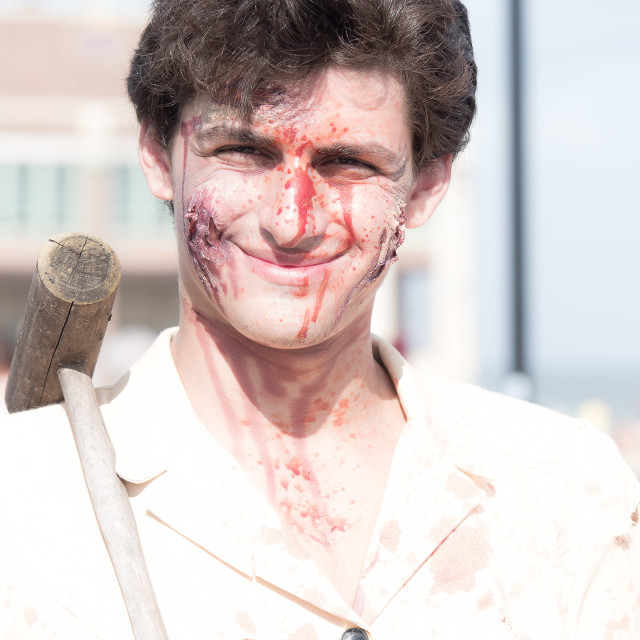"""YOUNG MAN ZOMBIE"" stock image"