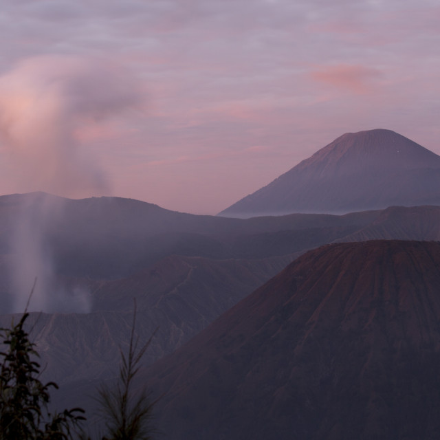 """View of Bromo mountain at early morning"" stock image"