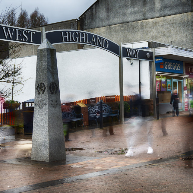 """""""The Start of the West Highland Way"""" stock image"""