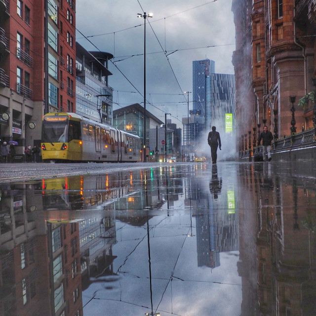"""""""Cinematic Manchester"""" stock image"""
