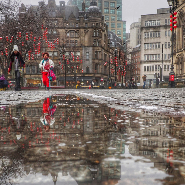 """""""Manchester reflections"""" stock image"""