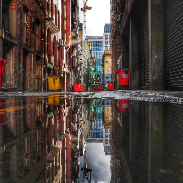 """""""Manchester backstreets"""" stock image"""