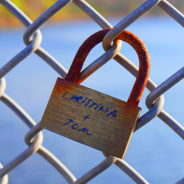 """LOVE LOCK"" stock image"