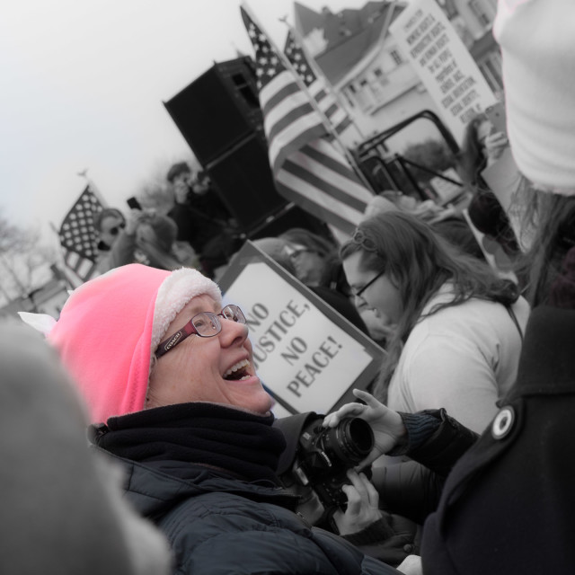 """""""MILLION WOMAN MARCH"""" stock image"""