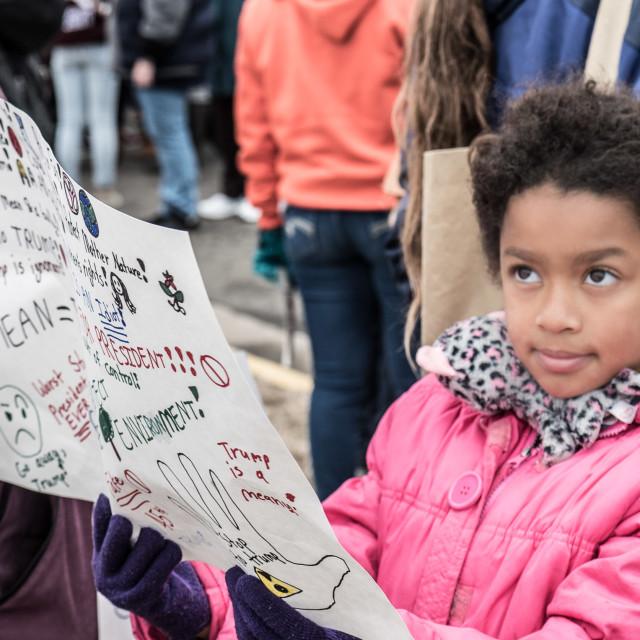"""MILLION WOMAN MARCH, ASBURY PARK NJ"" stock image"