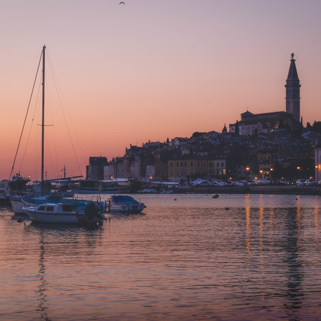 """Sunset in Rovinj"" stock image"