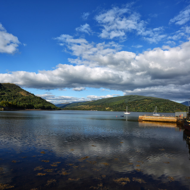 """Inverary Harbour"" stock image"
