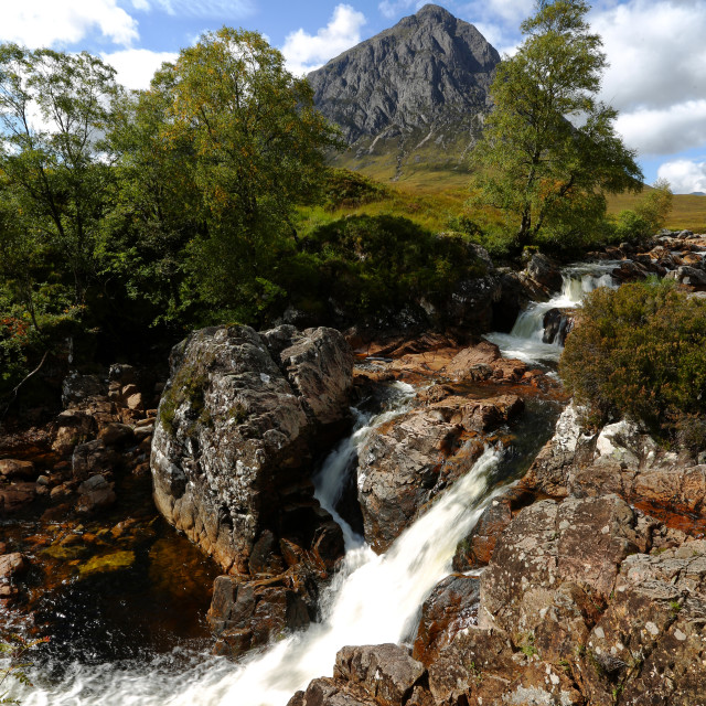 """Buachaille River Water Falls"" stock image"