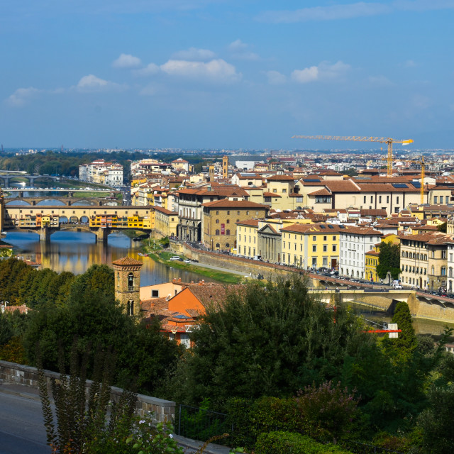 """Florence, City of Bridges"" stock image"